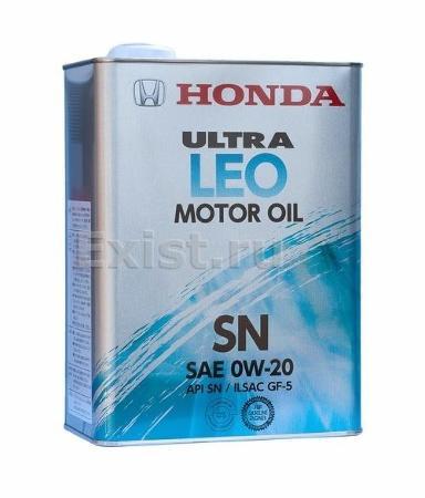 Honda Ultra Leo 0W20, API SN, моторное масло,  4л, Япония