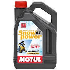 МOTUL Snow Power 4T 100% Synt.Ester, 0W40, ,для 4-хтактных, синтетика, 4л, Франция