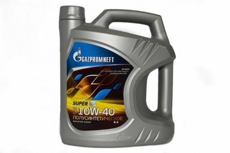 Gazpromneft Super, 10W-40, SG/CD, полусинтетика, 4л, Россия