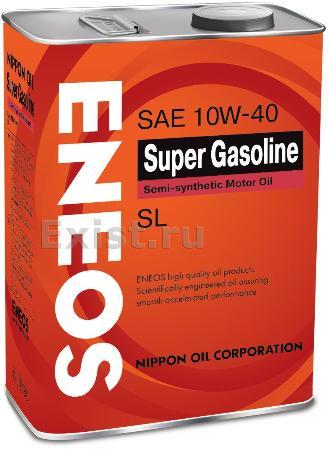 ЕNEOS Super Gasoline,10w-40, SL,  полусинтетика, 4л, Япония