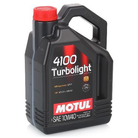 МOTUL 4100 Turbolight, 10w-40,  полусинтетика, 4л, Франция
