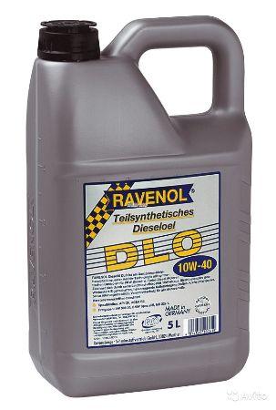 Ravenol DLO, 10w-40,  полусинтетика, 5л, Германия