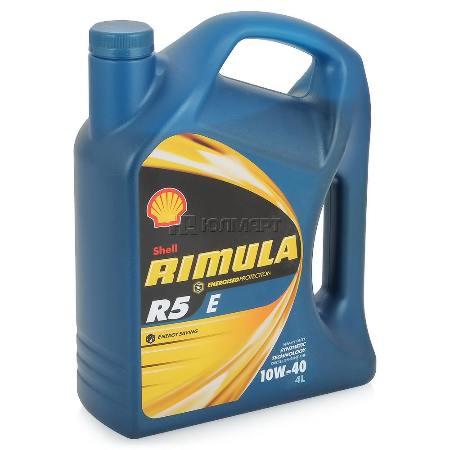 SHELL Rimula R5 E, 10w-40, CI-4,  полусинтетика,  4л, Финляндия