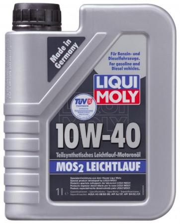 LIQUI MOLY Leichtlauf с MoS2, 10W/40,  полусинтетика,1л, Германия