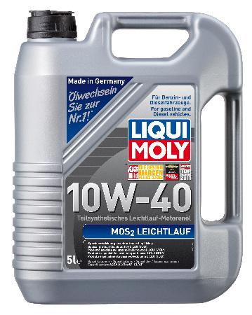 LIQUI MOLY Leichtlauf с MoS2, 10W/40,  полусинтетика, 4л, Германия