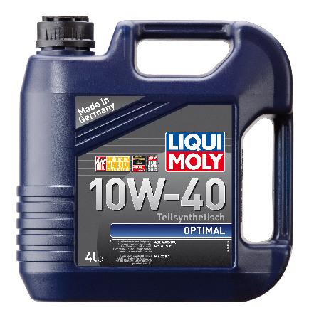 LIQUI MOLY Optimal, 10W/40,  полусинтетика, 4л, Германия