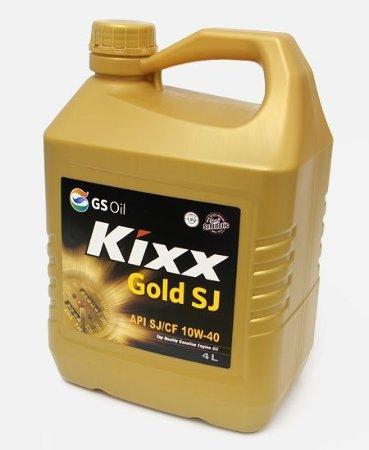 Kixx GOLD SJ, 10W40,  полусинтетика, 4л, Корея