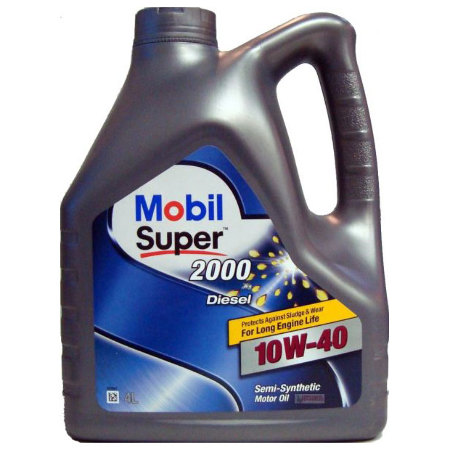 Mobil Super 2000 X1 DIESEL, 10W40,  полусинтетика, 4л, EU