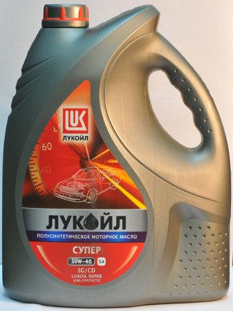 Лукойл Супер, 10w40, SG/CD,  полусинтетика, 5л, Россия