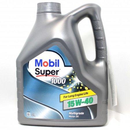 Mobil Super 1000 X1, 15W40,   минеральное, 4л, EU