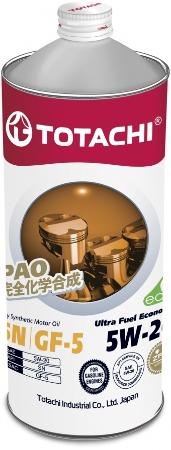 TOTACHI Ultra Fue, 5W-20, SN, моторное масло, синтетика,1л, Япония