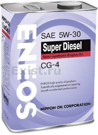 ЕNEOS Super Diesel, 5w-30, CG-4,  полусинтетика, 4л, Япония