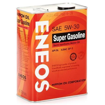 ЕNEOS Super Gasoline, 5w-30, SL,   полусинтетика, 4л, Япония