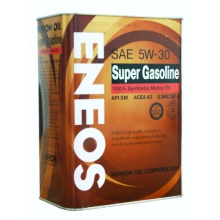 ЕNEOS Super Gasoline 100%, 5w-30, SM, синтетика, 4л, Япония