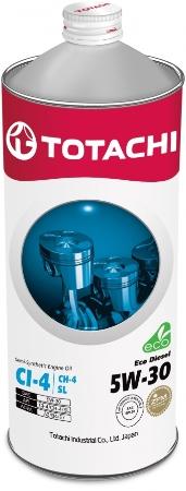 TOTACHI Eco DIESEL, 5W-30, CI-4/CH/SL,  полусинтетика,1л, Япония