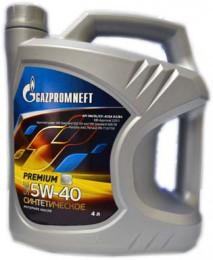 Gazpromneft Premium N, 5W-40, SN/CF, синтетика, 4л, Россия
