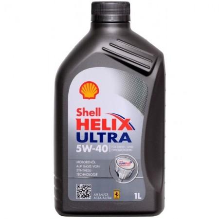 SHELL HELIX Ultra L, 5w-40, SM/CF,  синтетика, 1л, Финляндия