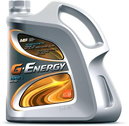 G-Energy EXPERT L, 5W-40, SL,  полусинтетика, 4л, Россия