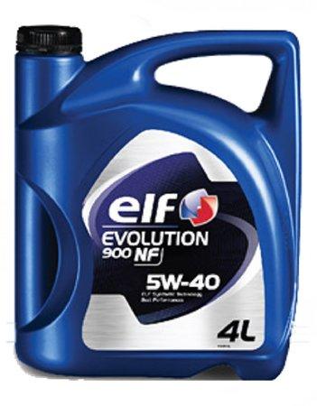 ELF Evol 900 NF, 5W-40,  синтетика, 4л, ЕС