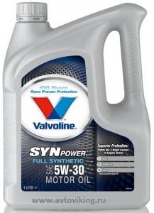 Valvoline SynPower, 5W30, моторное масло, синтетика,4л, Нидерланды