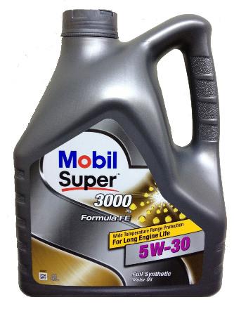 Mobil Super 3000 FE, 5W30,  синтетика, 4л, EU