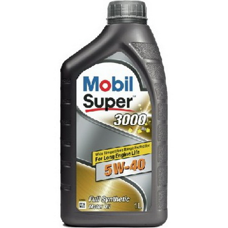 Mobil Super 3000 X1, 5W40,  синтетика, 1л, EU