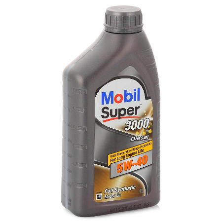 Mobil Super 3000 Diesel, 5W40,  синтетика, 1л