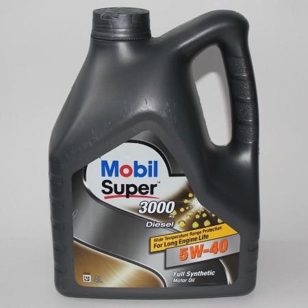 Mobil Super 3000 Diesel, 5W40,  синтетика, 4л