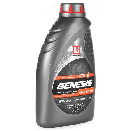 Лукойл Genesis Armortech, 5w40, SN/CF, моторное масло, синтетика, 1л,, Россия