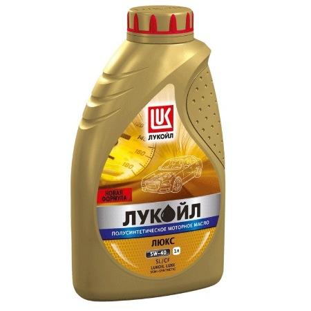 Лукойл Люкс, 5w40,  полусинтетика, 1л, Россия
