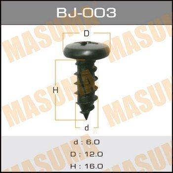Masuma (BJ-003) Cаморез, 6*16мм