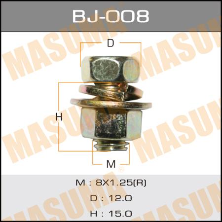 Masuma (BJ-008) болт с гайкой 8*15*1,25