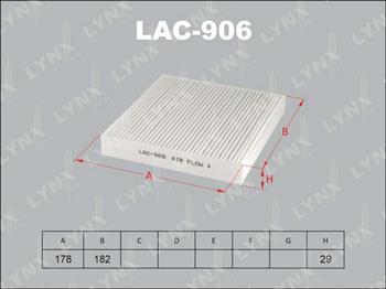 LYNX, фильтр салонный,  LAC-012/АС9317,  Япония