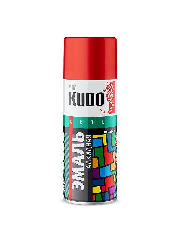 KUDO, Эмаль универсальная вишневая,  520мл Россия 1004-KU