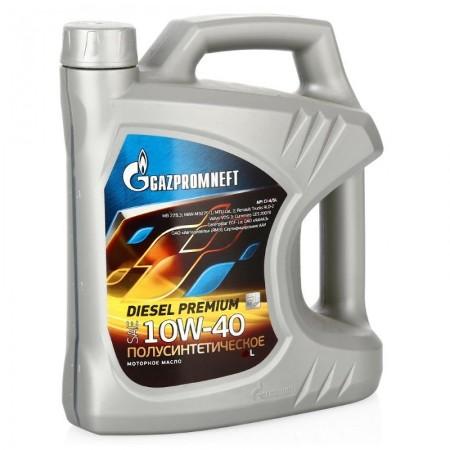 Gazpromneft Diesel Premium,10W-40, CI-4/SL, полусинтетика, 5л, Россия