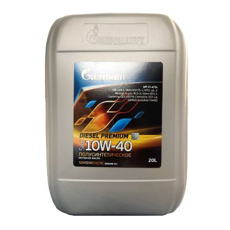 Gazpromneft Diesel Premium,10W-40, CI-4/SL, полусинтетика, 20л, Россия