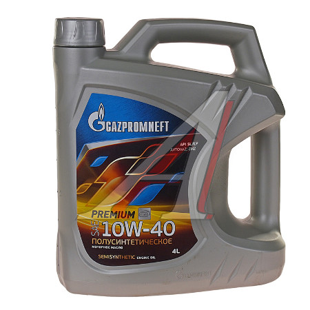 Gazpromneft Premium, L10W-40, SL/CF, полусинтетика, 4л, Россия