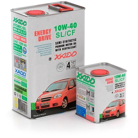 ХADO  Аtomic Oil, 10W-40, SL/CF,  полусинтетика, 4л, Украина