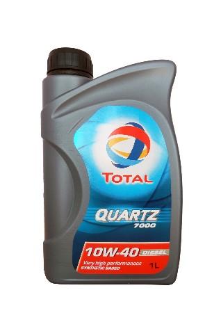 ТОТАL Quartz  7000, 10w-40,  полусинтетика, 1л, Франция