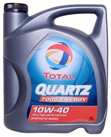 ТОТАL Quartz  7000, 10w-40,  полусинтетика, 4л, Франция