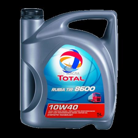 Total, Rubia Tir 8600, 10W40,  для коммерческого транспорта, 5л