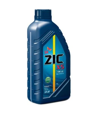 ZIC Х5, 10W40, Diesel, API CI-4,  полусинтетика, 1л, Корея