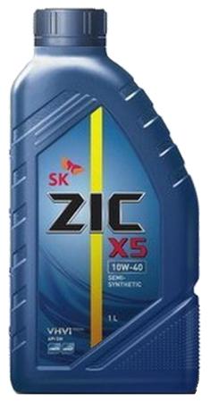 ZIC Х5, 10W40, SM полусинтетика, 1л, Корея