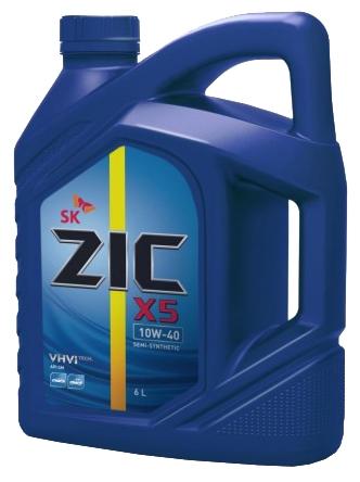 ZIC Х5, 10W40, SM полусинтетика, 6л, Корея