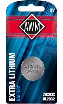 AWM, батарейка литиевая, CR2032 3V, , (блистер 1шт.)