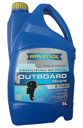 Ravenol Outboardoel 2T Mineral, для 2-хтактных, минеральное, 5л, Германия