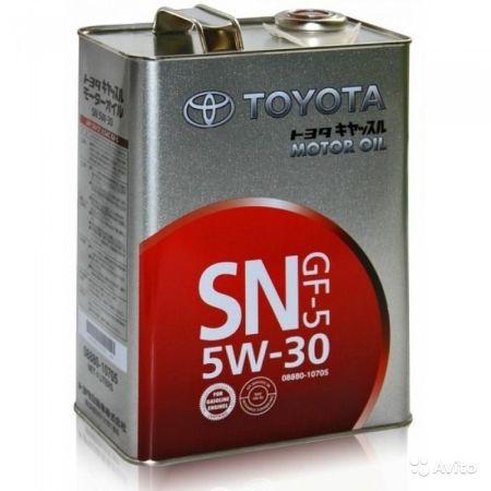 Toyota 5w-30, SN/CF GF-5,  4л, Япония