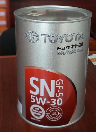 Toyota 5w-30, SN/CF GF-5,  полусинтетика,1л, США