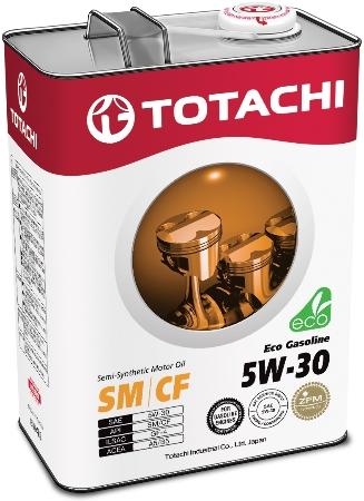 TOTACHI Eco Gasoline, 5W-30, SN/CF,  полусинтетика, 4л, Япония