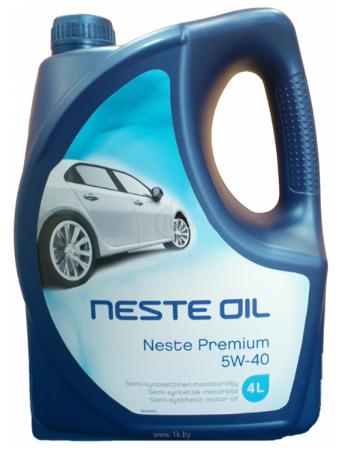Neste, Premium, 5W-40,  полусинтетика, 4л, Финляндия